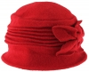 Hawkins Collection Wool Vintage Bow Hat in Red