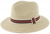 Hawkins Straw Fedora Hat in Red
