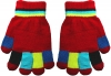 Magic Colourful Kids Gloves in Red