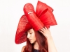 Matthew Eluwande Millinery Lady D in Red