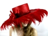 Matthew Eluwande Millinery Parasisal Hat in Red
