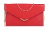 Papaya Fashion Envelope Faux Leather Bag in Red