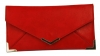 Papaya Fashion Faux Leather Envelope Bag in Red