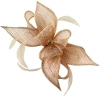 Failsworth Millinery Sinamay Diamante Clip Fascinator in Rose-Gold