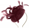 Failsworth Millinery Velvet Pillbox Headpiece in Rose