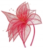 Elegance Collection Sinamay Leaf Fascinator in Rosie