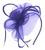 Aurora Collection Swirl & Biots Fascinator on aliceband in Royal Blue