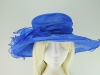 Wide Brimmed Occasion Hat in Royal Blue