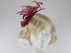 Hawkins Collection Sinamay Leaves Fascinator in Ruby