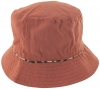 Hawkins Collection Reversible Leopard Print Bucket Sun Hat in Rust