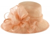 Hawkins Collection Asymmetrical Wedding Hat in Salmon