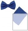 Max and Ellie Mens Bow Tie and Pocket Square Set in Sapphire
