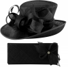 Elegance Collection Events Hat with Matching Sinamay Diamante Bag in Black