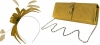 Failsworth Millinery Aliceband Sinamay Fascinator with Matching Bag in Gold