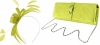 Failsworth Millinery Aliceband Sinamay Fascinator with Matching Bag in Lime