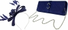 Failsworth Millinery Sinamay Loops Fascinator with Matching Sinamay Bag in Cobalt
