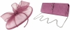 Failsworth Millinery Sinamay Disc with Matching Sinamay Occasion Bag in Orchid