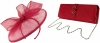 Failsworth Millinery Sinamay Disc with Matching Sinamay Occasion Bag