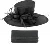 Max and Ellie Events Hat with Matching Occasion Bag in Black