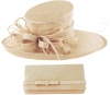Max and Ellie Events Hat with Matching Occasion Bag in Chalk
