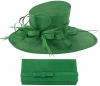 Max and Ellie Events Hat with Matching Occasion Bag in Emerald