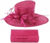 Max and Ellie Events Hat with Matching Occasion Bag in Fuchsia