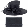 Max and Ellie Events Hat with Matching Large Occasion Bag in Navy