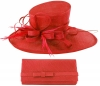 Max and Ellie Events Hat with Matching Occasion Bag in Poppy
