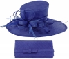 Max and Ellie Events Hat with Matching Occasion Bag in Sapphire