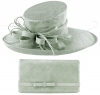 Max and Ellie Events Hat with Matching Large Occasion Bag in Silver