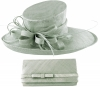 Max and Ellie Events Hat with Matching Occasion Bag in Silver