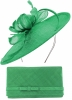 Max and Ellie Occasion Disc with Matching Large Occasion Bag in Emerald