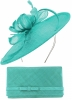 Max and Ellie Occasion Disc with Matching Large Occasion Bag in Turquoise