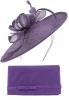 Max and Ellie Occasion Disc with Matching Large Occasion Bag in Violet