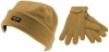 SSP Hats Kids Thinsulate Beanie with Matching Gloves in Beige