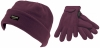 SSP Hats Kids Thinsulate Beanie with Matching Gloves in Lilac