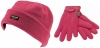 SSP Hats Kids Thinsulate Beanie with Matching Gloves in Pink