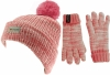 SSP Hats Kids Thinsulate Dapple Beanie with Matching Gloves in Pink