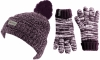 SSP Hats Kids Thinsulate Dapple Beanie with Matching Gloves in Purple