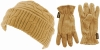 SSP Hats Thermal Patterned Beanie with Matching Gloves in Beige