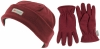 SSP Hats Thinsulate Ladies Beanie with Matching Gloves in Maroon