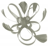Aurora Collection Fascinator with Loops and Feathers in Silver