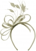 Elegance Collection Satin Loops Aliceband Fascinator in Silver