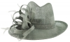 Elegance Collection Stetson Occasion Hat in Silver