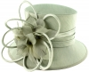 J Bees Millinery Shantung Occasion Hat in Silver