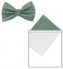 Max and Ellie Mens Bow Tie and Pocket Square Set in Silver