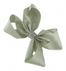 Molly and Rose Small Diamante Hair Bow in Silver