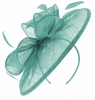 Failsworth Millinery Sinamay Disc Headpiece in Sky