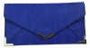 Papaya Fashion Faux Leather Envelope Bag in Splash Blue