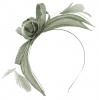 Failsworth Millinery Aliceband Sinamay Fascinator in Steel